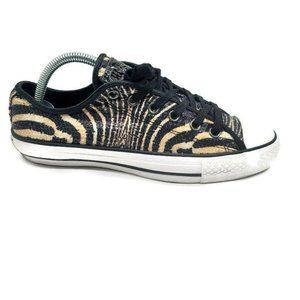 Converse Sequin Tiger print Black/Tan Unisex Shoes